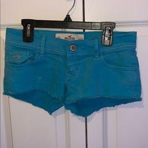 Blue Hollister Denim Booty Shorts (00)